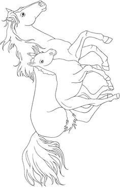 ausmalbild pferde kids-n-fun | coloring 2 | ausmalbilder pferde, ausmalbilder und malvorlagen pferde
