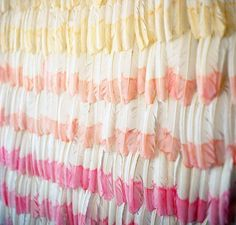 You can DIY this ombre feather backdrop for your bridal shower or wedding.