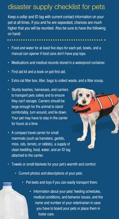 Be prepared! Keep this disaster supply checklist at your paws for when trouble strikes