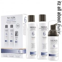 For hair that is noticeably thinning hair Nioxin have developed a solution tailored to you. The Nioxin System Kit 6 for Medium Thick Natural and Coloured Hair is a 3 step program that has been specially formulated to strengthen and thicken each individual Nioxin Hair, Nioxin System, Organic Hair Color, Scalp Conditions, Hair Kit, Hair System, Pc System, Jon Renau, Hair