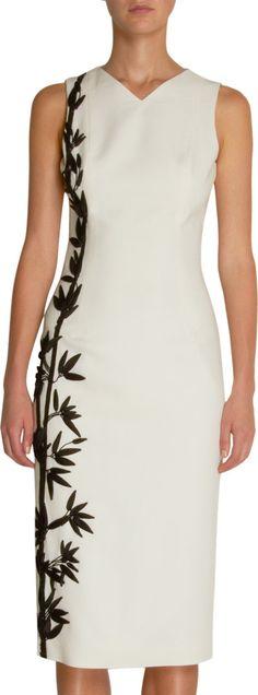 L'WREN SCOTT Bamboo Embroidered Dress