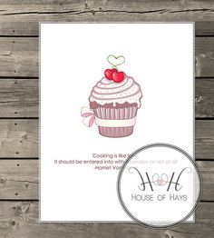 INSTANT DOWNLOAD  Kitchen Printable/Cookbook Cover by HouseofHays