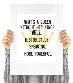 powerful queen quote feminist quote girl power by MyDaisyDownloads
