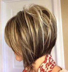 Inverted Stacked Bob Haircut