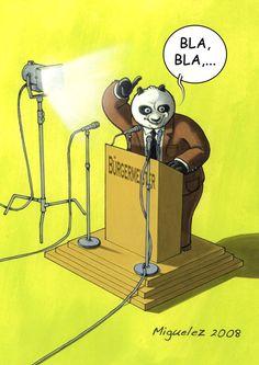 Panda-Illustration von Angel Miguelez