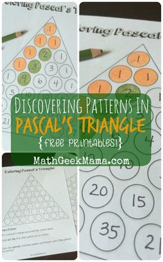 Such great ideas for kids of all ages to find and explore patterns in Pascal's Triangle!