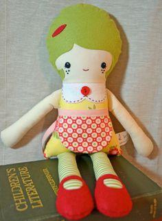 Paige - Handmade Fabric Doll