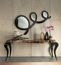 Modern mirror designs are becoming more and more creative and distinctive, partly due to new technologies and partially because homeowners are searching for something distinctive. Interior Design Boards, Contemporary Interior Design, Best Interior Design, Contemporary Bedroom, Modern Mirror Design, Contemporary Building, Contemporary Cottage, Foyer Design, Contemporary Apartment
