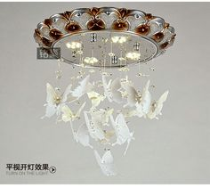minimalist LED ceiling bedroom lamp creative personality living room lights acrylic resin butterfly light crystal ceiling light loft idea
