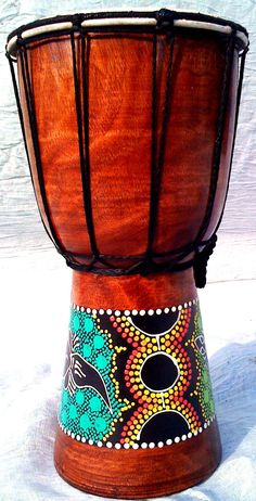 30cm Djembe Drum with Hand Painted Design - West African Bongo Drum: Amazon.co.uk: Musical Instruments