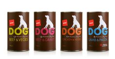 Pams Pet Food  - @The Dieline - I don't have a dog, but love the simplicity of this label.