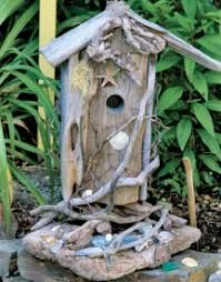 Image result for driftwood birdhouse