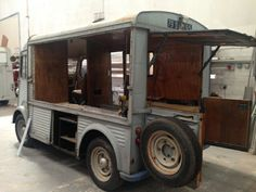 Citroën Hvan 1967  Phase one... cut the serving hatch out! Isn't she just tremendous..
