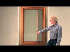 Wood Casement Windows   Marvin Windows   retractible screen