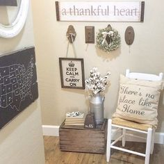 We have A THANKFUL HEART for you, Lauren! What an inviting and delightful vignette. #decoratingideas #homedecor                                                                                                                                                                                 More