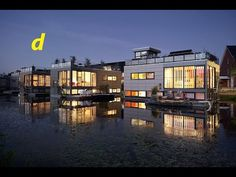 Amsterdam Futuristic Floating City  supported by buoyant concrete tubs  submerged in the water to a depth of half a story. A lightweight supporting steel construction is built on top, which is fitted with wooden panelling to make rooms and floors. Bedrooms and the bathroom are contained in the lowest story, which is partly submerged. The raised ground floor houses kitchen and dining spaces. Connected to an open terrace deck, the main living area occupies the cantilevered upper floor…