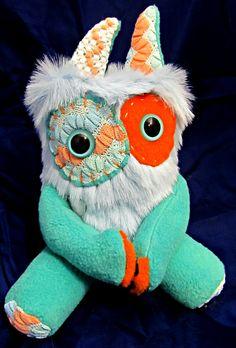 Plush Furry Monster RARDEN Handmade Plushie by PinkSprinklesPlush