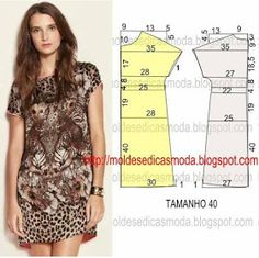 Sewing Blouse Easy Free Pattern 32 Ideas For 2019 Dress Sewing Patterns, Sewing Patterns Free, Sewing Tutorials, Clothing Patterns, Free Pattern, Tunic Pattern, Fashion Sewing, Diy Fashion, Ideias Fashion