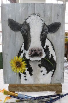 What is Your Painting Style? How do you find your own painting style? What is your painting style? Cow Paintings On Canvas, Cow Canvas, Animal Paintings, Canvas Art, Paintings Of Cows, Tole Painting, Painting & Drawing, Painting On Pallet Wood, Cow Drawing