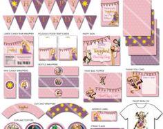 Kit Imprimible Enredados /Rapunzel Ideal para el