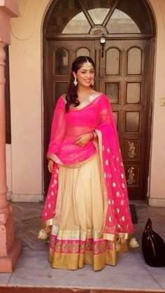 Yami Gautam Pink Lehenga Bollywood Replica at Best Prices...! To order / Inquire, please email us to: mailto: getstyleathome1@g... visit us for more info : www.getstyleathom... Thank you and happy shopping!