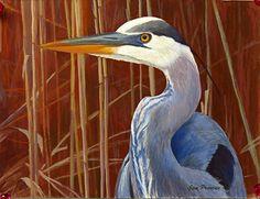 Hammonasset Blue by  Prentice Studio Casein ~ 6 x 8