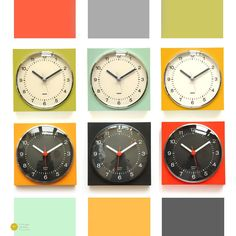 Krups wall clock collection by vintage german clocks - 60s 70s mid century modern space age Palm Springs