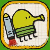 Doodle Jump - In Doodle Jump, you guide Doodle the Doodler—using some of the most subtle and accurate tilt controls in existence—on a springy journey up, up, up a sheet of graph paper, picking up jet packs, avoiding black holes, and blasting baddies with nose balls along the way.