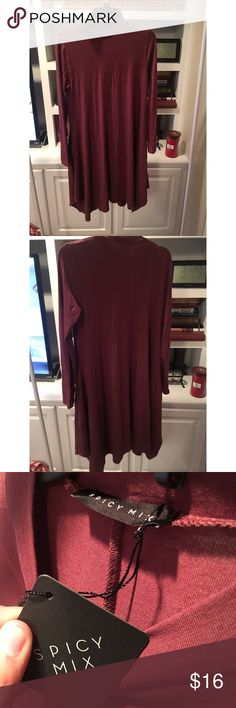 Piko dress Burnt red/maroon piko dress or tunic. Ordered online and it was too small for me. Fits like large. New with tags. Has pockets!!!! Has fitted neckline. Dresses Long Sleeve