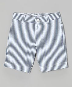 Another great find on #zulily! Blue Check Seersucker Shorts - Infant, Toddler & Boys #zulilyfinds