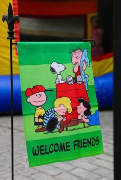 Entrance Sign from a Peanuts + Charlie Brown Birthday Party via Kara's Party Ideas | KarasPartyIdeas.com (28)