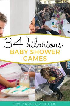 34 Unique Baby Shower Games – Solutions Mommy Need some fun and unique baby shower games for boys or girls. Even if you have large crowds these baby shower games are full of hilarious printable games as well as minute to win it games. Baby Shower Food For Boy, Baby Shower Simple, Baby Shower Virtual, Otoño Baby Shower, Baby Shower Game Prizes, Baby Shower Games Unique, Fiesta Baby Shower, Shower Bebe, Bridal Shower