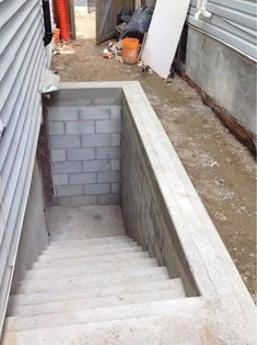 Added rear entry to the basement allcraft home for Adding exterior basement entry