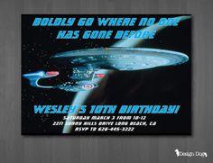 Star Trek Birthday Invitation