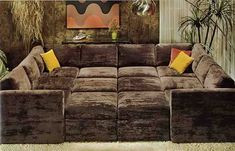 This looks so COZY!  SECTIONAL :: 1976-kroeher-crib-couch-in-crushed-velvet.jpg picture by JPDSODPB - Photobucket