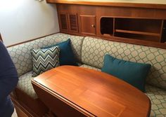View Our Best Boat Bedding Package Examples & Fabric Choices Boat Bed, Boat Upholstery, Fold Out Beds, Best Boats, Duvet, Bedding, Sofa, Couch, Bed Mattress