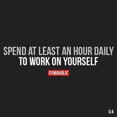 Spend At Least An Hour Daily #FitnessInspiration