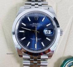 Rolex Datejust ad: $7,450 Rolex Datejust 41 Stainless Steel Blue Dial Jubilee Bracelet Ref. No. 126300; Steel; Automatic; Condition 0 (unworn); With box; With papers; Location: Unite