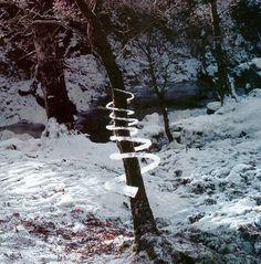 Winter Ice works by Andy Goldsworthy