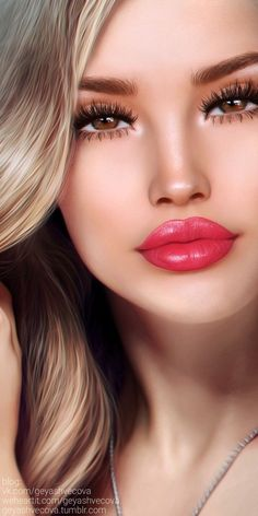 Image uploaded by 𝐆𝐄𝐘𝐀 𝐒𝐇𝐕𝐄𝐂𝐎𝐕𝐀 👣. Find images and videos about fashion, beautiful and beauty on We Heart It - the app to get lost in what you love. Fantasy Art Women, Fantasy Girl, Beautiful Lips, Beautiful Girl Image, Beautiful Pictures, Girl Face, Woman Face, Dibujos Tumblr A Color, Beauté Blonde