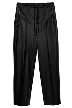 Drykorn Damen Kunstlederhose Access Schwarz | SAILERstyle Leather Pants, Sweatpants, Tops, Fashion, Hot Pink Fashion, Trousers, Cotton, Black, Curve Dresses
