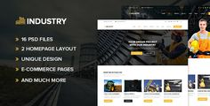 Industry ¨C Industrial and Factory PSD Template by design-cafe Industry ¨C This is a PSD template is designed specially for Manufacturing Industries, Factory and Plants. Industry has beautiful a