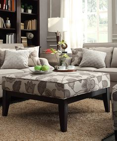Another great find on #zulily! Gray Floral Tremaine Ottoman by HomeBelle #zulilyfinds