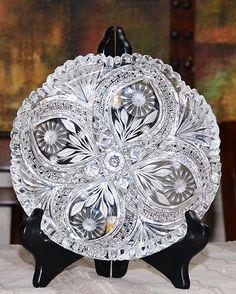 American Brilliant Cut Glass Dish | eBay
