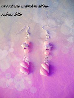 orecchini marshmallow colore lilla