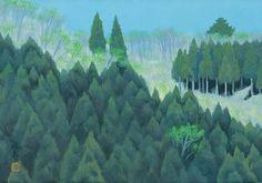 東山魁夷 萌ゆる春 1969年 Contemporary Landscape, Landscape Art, Landscape Paintings, Japanese Art Styles, Japanese Artists, Japanese Illustration, Illustration Art, Illustrations, Japanese Painting