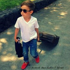 ; Toddler Boy Fashion, Little Boy Fashion, Fashion Children, Outfits Niños, Baby Boy Outfits, Summer Outfits, Cute Little Boys, Cute Kids, Lil Boy