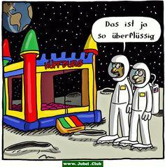 Hüpfburg auf dem Mond