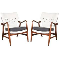 Rare IB Madsen and Acton Schubell Wingback Armchairs