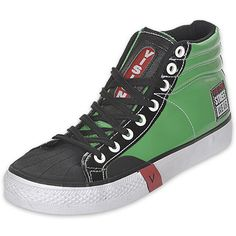 Vision Streetwear - Green Vomit Men's Casual Shoe - 1990's